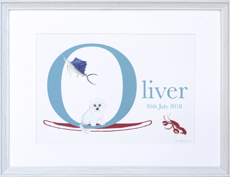 Oliver name print
