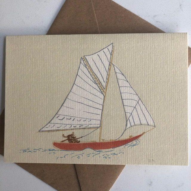 yak sailing his yacht