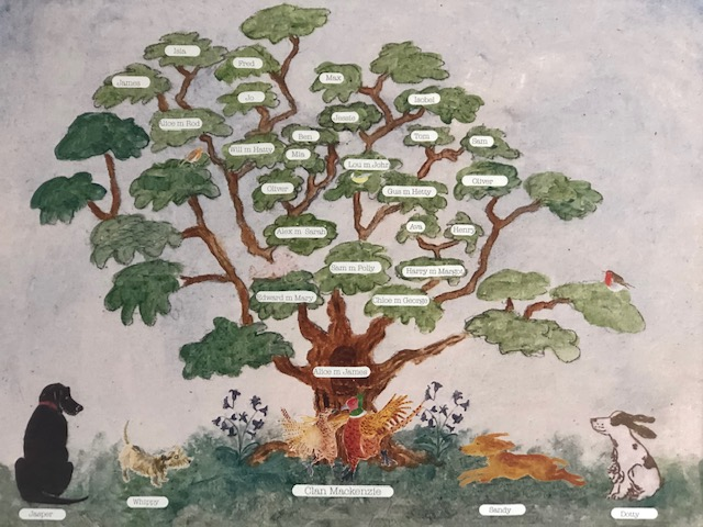 Painted oak tree designed around your personal family tree, with your pets illustrated infant of the tree makes the most perfect mother's day gift.