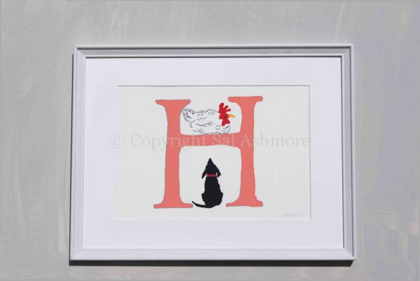 Story Letter Print H - Happy Hen and Hound