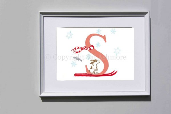 Story Letter Print S - Speedy Spaniel