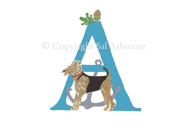 Story Letter Print A - Admiral Airedale