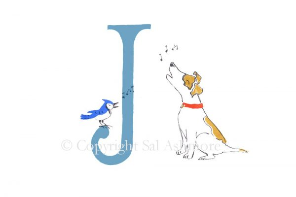 Story Letter Print J - Jammin' Jack and Jay
