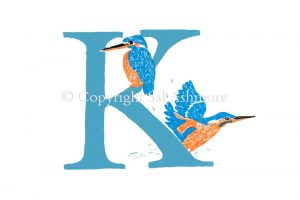 Story Letter Print K - Kingfishers