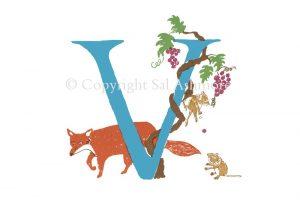Story Letter Print V - Voling in the Vine