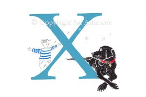 Story Letter Print X - Blowing xxx kisses to my best friend