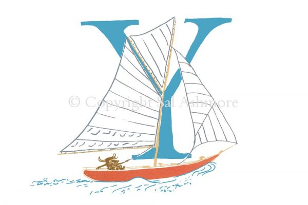 Story Letter Print Y - Yachting Yak